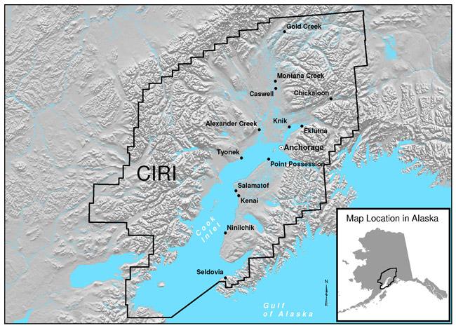 Homer Alaska Map Area.Cook Inlet Villages And Lands Ciri