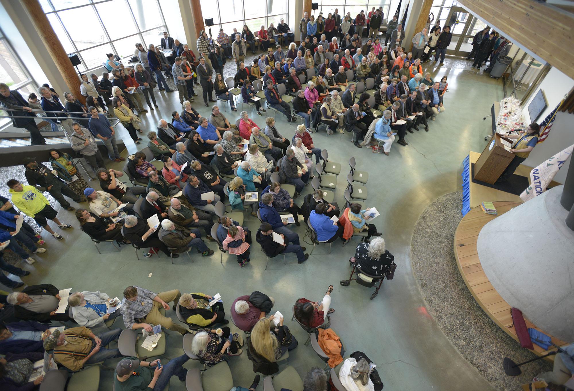 Celebrating the Dena'ina Wellness Center's grand opening ...