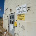 A contaminated building at the Oak Ridge National Laboratory awaiting decontamination and demolition.