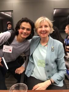 CIRI descendant Sam Schimmel with former Alaska Supreme Court Chief Justice Dana Fabe. Photo courtesy of Sam Schimmel.
