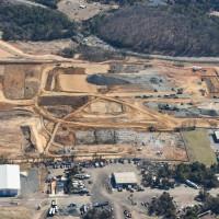 A 50-acre plot of land in Manassas, Va., will eventually become the Merritt I-66 Business Park, a six-building light-industrial/bulk warehouse development. Photo by DC Aerial Photos Inc.